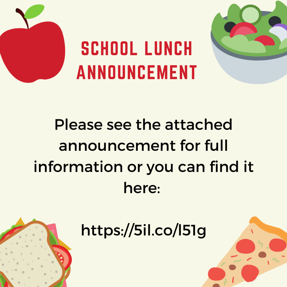 School Lunch Announcement