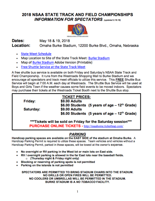 State Track Information
