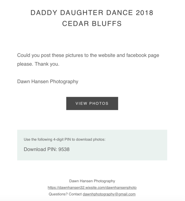 Daddy-Daughter Dance Photography