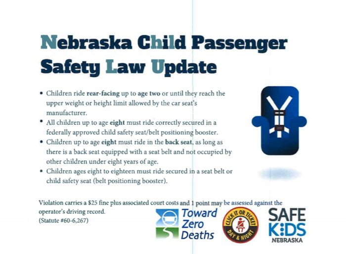 car seat law update