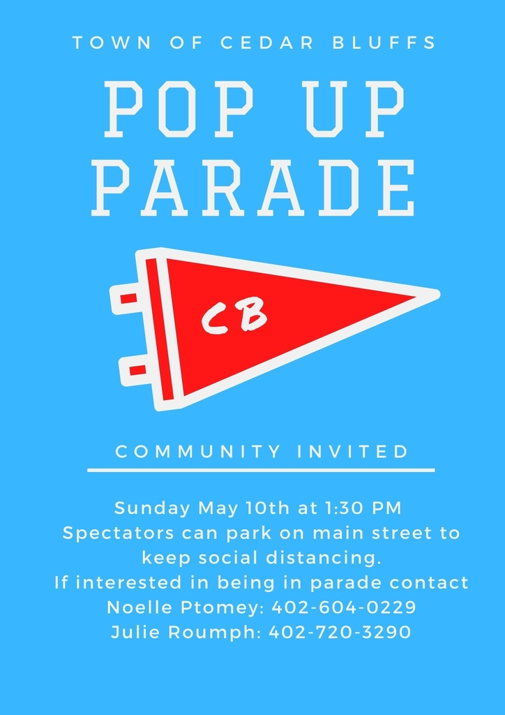 Pop up parade flyer