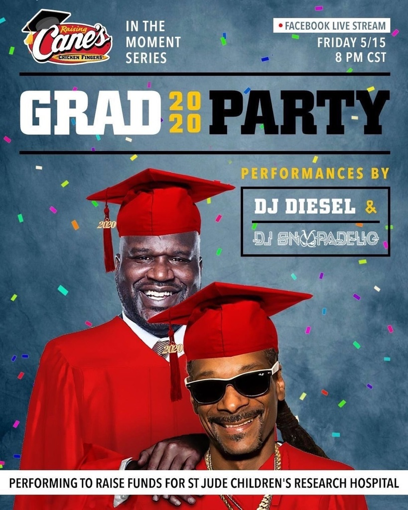 raising canes grad party flyer
