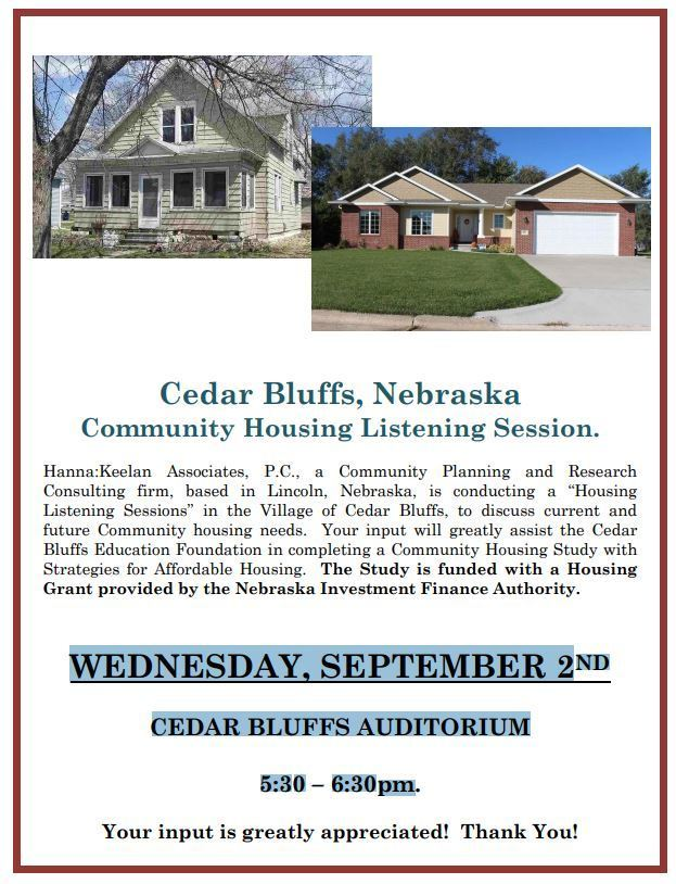 community housing flyer