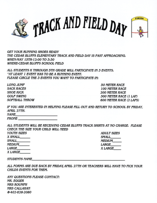 Elementary Track & Field Day!