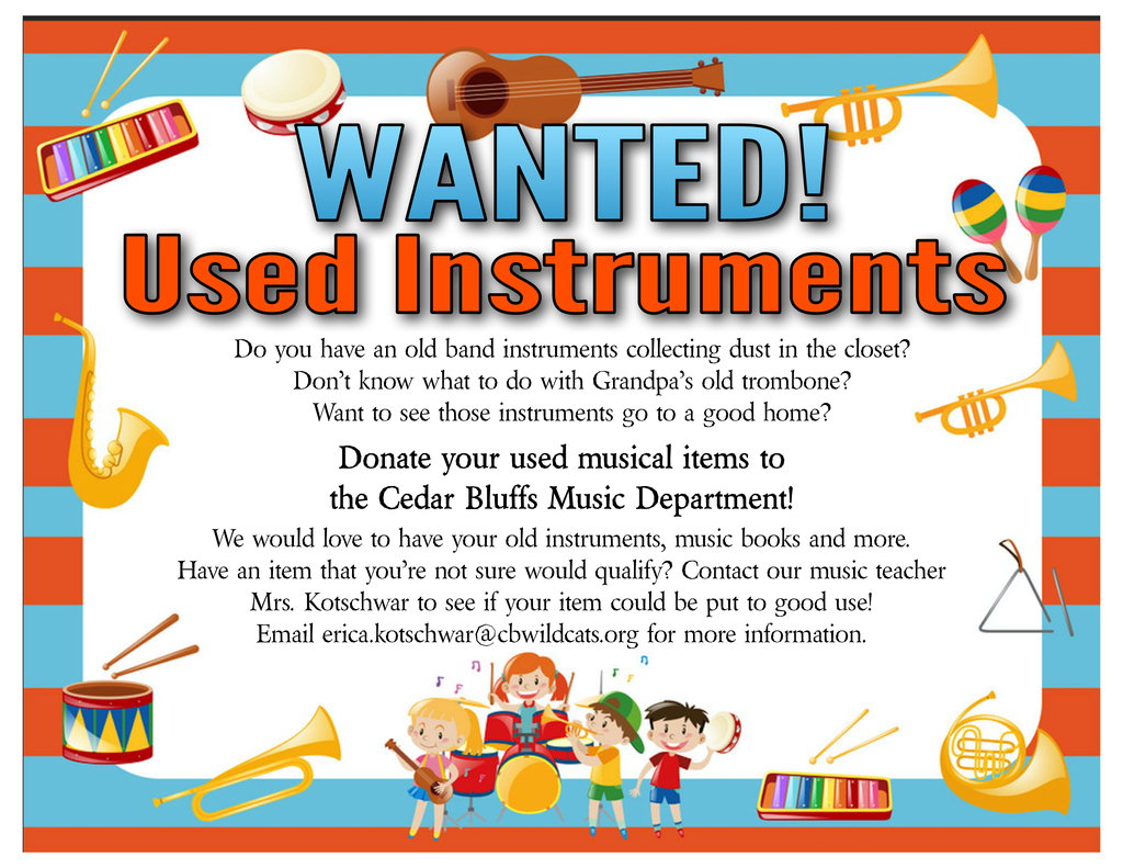wanted instrument flyer